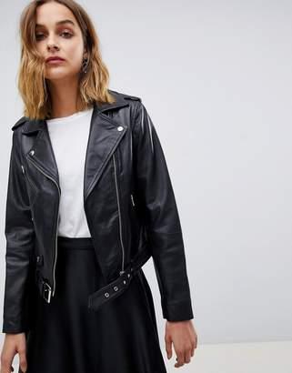 Muu Baa Muubaa Sandpiper Leather Biker Jacket