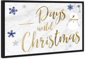 Oliver Gal Countdown Till Christmas Dry Erase White Board By