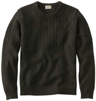 L.L. Bean L.L.Bean Men's Washable Lambswool Sweaters, Mixed Stitch Crewneck