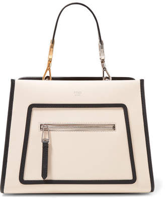 Fendi Runaway Small Two-tone Leather Tote