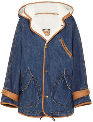McQ Denim And Faux-shearling Jacket