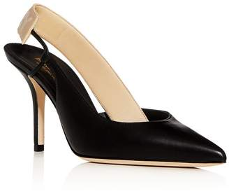 Burberry Women's Maria Slingback Pointed-Toe Pumps