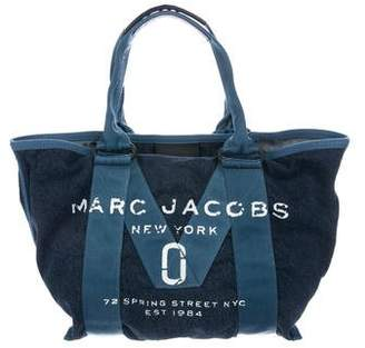 Marc Jacobs Canvas-Trimmed Denim Tote