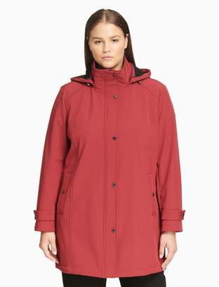 Calvin Klein plus size soft shell hooded jacket