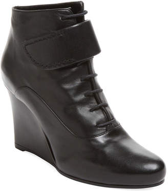 Jil Sander Leather Wedge Bootie