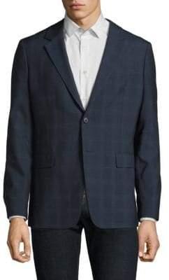 Theory Regular-Fit Windowpane Wool Jacket