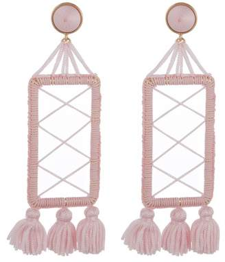 BaubleBar Markita Thread Wrapped Drop Earrings