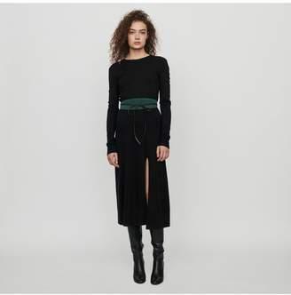 Maje Split And Reversible Knit Dress