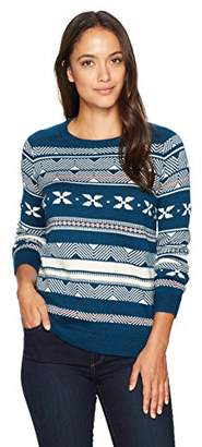 Pendleton Women's Petite Size Fair Isle Merino Crew Neck Sweater