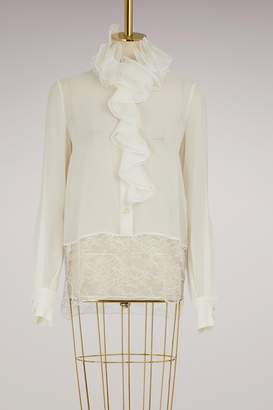 Lanvin Silk blouse with ruffles
