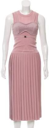 Bottega Veneta Pleated Wool-Blend Dress w/ Tags