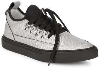 Alessandro Dell'Acqua Alessandro Dell''acqua Lace-Up Pointed Metallic Sneaker