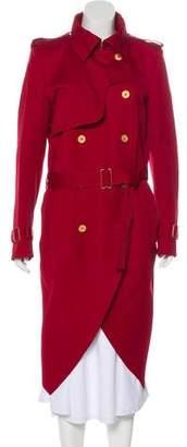 Saint Laurent Long Belted Trench Coat