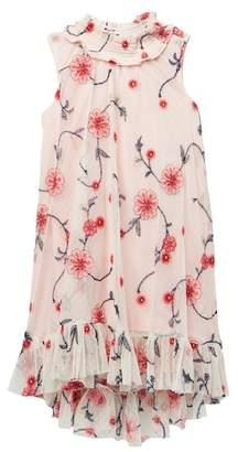 Iris & Ivy Allover Embroidered Mesh Trapeze Dress (Big Girls)