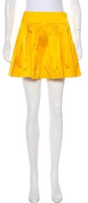 Diane von Furstenberg Satin Mini Skirt