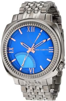 Vince Camuto Men's VC/1002BLDS The Veteran Dial Multi-Function Silver-Tone Bracelet Watch