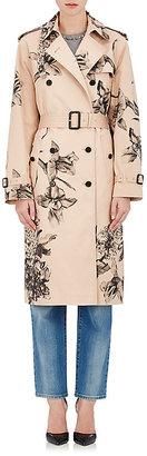 Valentino VALENTINO WOMEN'S ROSE-PRINT GABARDINE TRENCH COAT $7,900 thestylecure.com