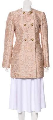 Stella McCartney Printed Double-Breasted Coat