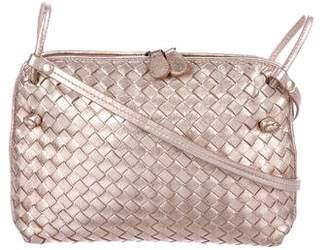 Bottega Veneta Metallic Intrecciato Pillow Messenger Bag