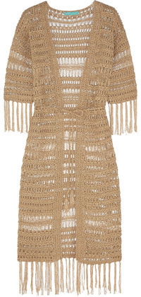 Melissa Odabash Naomi Metallic Crocheted Robe