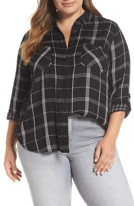 Lucky Brand Duo Fold Plaid Boyfriend Shirt