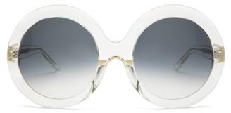 Celine Round Acetate Sunglasses - Womens - Yellow