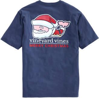 Vineyard Vines Santa Whale Pocket T-Shirt