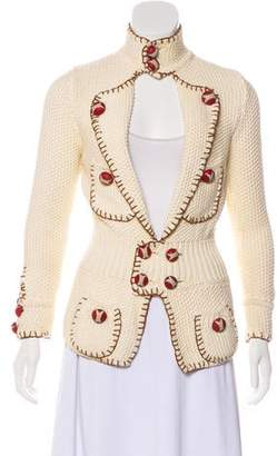 DSQUARED2 Embroidered Knit Cardigan