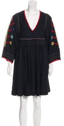 Ulla Johnson V-Neck Silk Dress