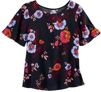 Girls 7-16 Mudd® Flutter Sleeve Criss-Cross Front Tee $30 thestylecure.com