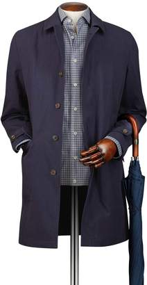 Charles Tyrwhitt Navy Italian Cotton RainCotton coat Size 38