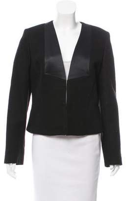 See by Chloe Structured Satin-Accented Blazer