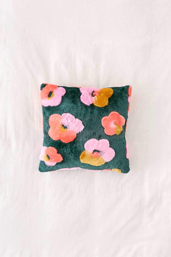 Penny Floral Faux Fur Throw Pillow