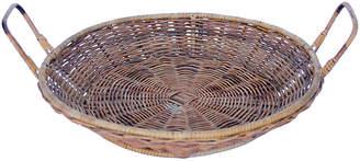 One Kings Lane Vintage Bamboo & Rattan Tray Basket - Debra Hall Lifestyle