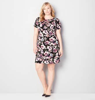 Avenue Floral Keyhole Sheath Dress