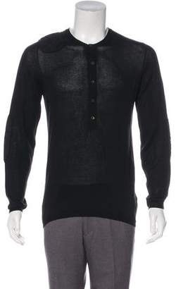 Prada Sport Padded Knit Henley Sweater