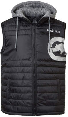 Ecko Unlimited Unltd Men Diamond Quilted Hooded Vest