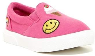 Mia Twin Gore Emoji Slip-On Sneaker (Toddler & Little Kid)