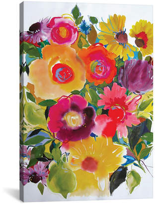 "iCanvas Purple Zinnias"" By Kim Parker Gallery-Wrapped Canvas Print - 26"" x 18"" x 0.75"""