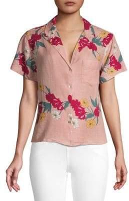 Rails Tropical Print Button-Down Shirt