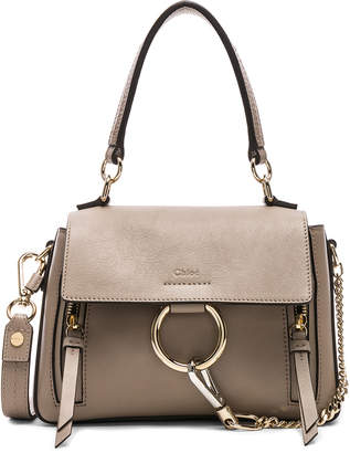 Chloé Mini Faye Calfskin & Suede Day Bag in Motty Grey | FWRD