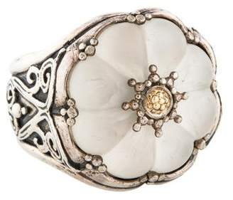 Konstantino Iris Carved Quartz Flower Ring