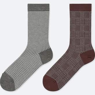 Uniqlo Women's Heattech Houndstooth Socks (2 Pairs)