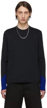 Bottega Veneta Black and Blue Techno Knit Sweater