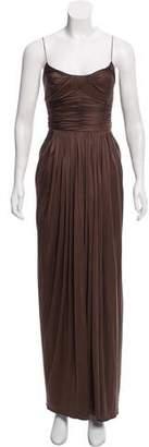 Oscar de la Renta Silk Maxi Dress