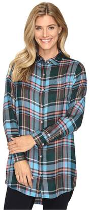 Jag Jeans Magnolia Tunic in Yarn-Dye Rayon Plaid Women's Clothing