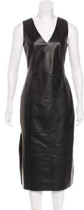 Drome Leather Midi Dress
