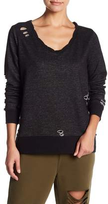 Romeo & Juliet Couture Distressed Knit Pullover