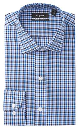 ESQ Plaid Slim Fit Dress Shirt