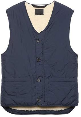 Banana Republic JAPAN ONLINE EXCLUSIVE Quilted Vest with Sherpa Lining